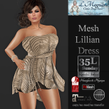 35L Sun LMagnum Mesh Lillian Dress - Tigers Swirl Taupe