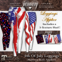 January4thOfJulyLeggingDisplay