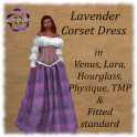 Lavender Corset Dress for Mesh Bodies
