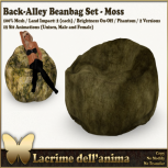 (PIC) Back-Alley Beanbag Set - Moss