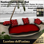 (PIC) Nautical Cuddle Boat - Red