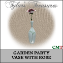 .TT. GARDEN PARTY VASE WITH ROSE MP AD