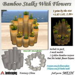 Fantasy China Mesh Bamboo Stalks With Flowers BP 1