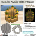 Fantasy China Mesh Bamboo Stalks With Flowers BP