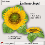 Fantasy China Mesh Sunflower Singel BP