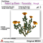 FC- ButterCup Flower - Ranunculus Orange s-3 bp