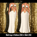 __Girly's Inc.__ Khaleesi Gown - White and gold