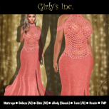 __Girly's Inc.__ Lacy Gown - Coral