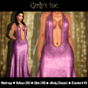 __Girly's Inc.__ Nina Plunge Gown - Rose