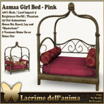 (PIC) Asmaa Girl Bed - Pink