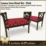 (PIC) Asmaa Iron Stool Set - Pink