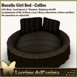 (PIC) Bucolic Girl Bed - Coffee