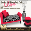 (PIC) Cheeky Girl Chaise Set - Pink