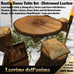 (PIC) Rustic Dance Table Set - Distressed Leather