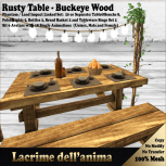 (PIC) Rusty Table - Buckeye Wood
