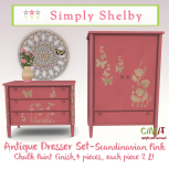 Simply Shelby Antique Dresser Set pink