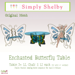 Simply Shelby Enchanted Butterfly Table blue