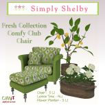 Simply Shelby Fresh Collection Club Chair
