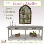 Simply Shelby Fresh Collection Console Table