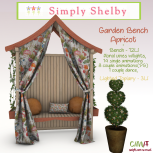 Simply Shelby Garden Bench apricot
