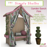 Simply Shelby Garden Bench Pink