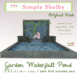 Simply Shelby Garden Waterfall Pond