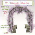 Simply Shelby Living Tree Archway pink