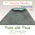 Simply Shelby Patio with pond
