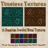 TT 12 Seamless Jeweled Metal Timeless Textures