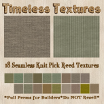 TT 18 Seamless Knit Pick Reed Timeless Textures
