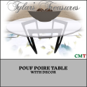 .TT. POUF POIRE TABLE MP AD