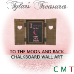.TT. TO THE MOON AND BACK CHALKBOARD WALL ART MP AD