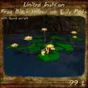 UI Frog Black Yellow on Lily Pads