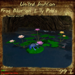 UI Frog Blue on Lily Pads