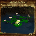 UI Frog Green on Lily Pads