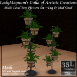 35L Sun LadyM's Multi Level Tree Planters Set Lrg - Terracotta