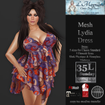 35L Sun LMagnums Mesh Lydia Dress - Paisley Red