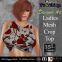 35L Sun [LMTsT] Ladies Mesh Crop Top - Roses Tan
