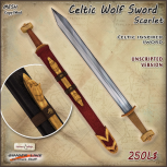 AD Celtic Wolf Sword Scarlet UNSCRIPTED