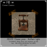 asger cheese press w