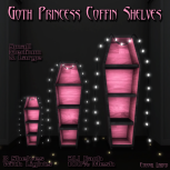 ELTD Goth Princess Coffin Shelves PIC