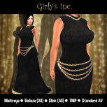 __Girly's Inc.__ Vanora Gown Onyx
