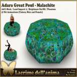 (PIC) Adara Great Pouf - Malachite