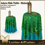 (PIC) Adara Side Table - Malachite