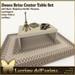 (PIC) Douce Brise Center Table Set