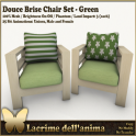 (PIC) Douce Brise Chair Set - Green