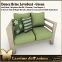 (PIC) Douce Brise LoveSeat - Green