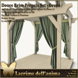 (PIC) Douce Brise Pergola Set - Green