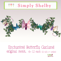 .Simply Shelby Enchanted Butterfly Garland