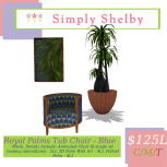 Simply Shelby Royal Palms Combo blue